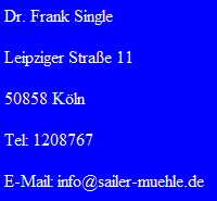 © by Dr. Frank Single 2013